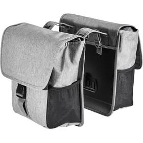 Basil GO Doppel-Gepäckträgertasche 32l grey melee